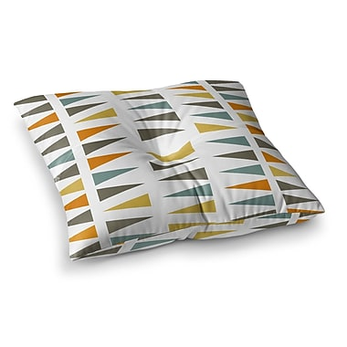 East Urban Home Stacked Geo Triangles by Pellerina Design Floor Pillow; 26'' x 26''