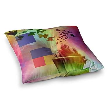 East Urban Home Teacup Fantasy Birds by Alyzen Moonshadow Floor Pillow; 26'' x 26''