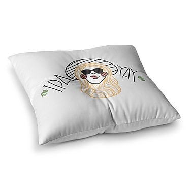 East Urban Home IPA YAY People by Busy Bree Floor Pillow; 26'' x 26''