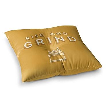 East Urban Home Rise and Grind Illustration by Busy Bree Floor Pillow; 23'' x 23''