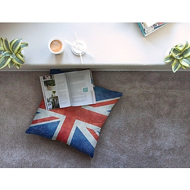 East Urban Home UK Union Jack Flag by Bruce Stanfield Floor Pillow; 26'' x 26''