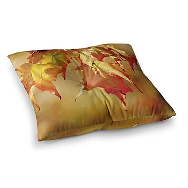 East Urban Home Autumn Leaves Vibrant by Angie Turner Floor Pillow; 26'' x 26''