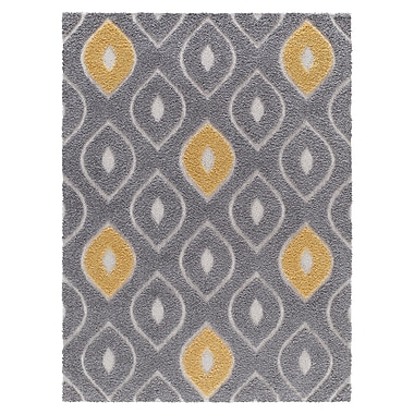 Brayden Studio Artz Gray/Yellow Area Rug