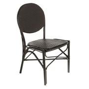 Brayden Studio Shadwick Artisan Hands Cafe Bistro Stacking Patio Dining Chair (Set of 2)