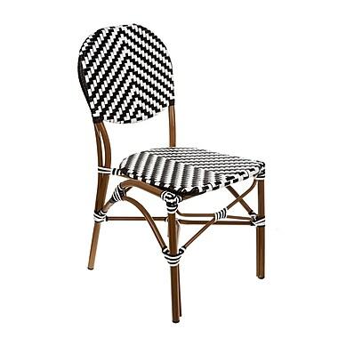 Brayden Studio Shadwick Modern Artisan Hands Cafe Bistro Stacking Patio Dining Chair (Set of 2)