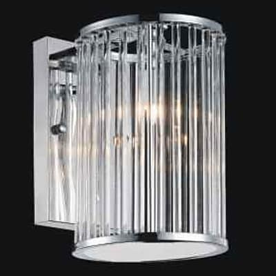 CrystalWorld 1-Light Armed Sconce