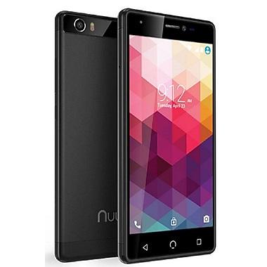 NUU Mobile - Téléphone intelligent LTE M2 déverrouillé 5 po, 16 Go, noir