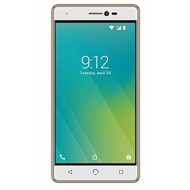 NUU Mobile - Téléphone intelligent LTE M2 déverrouillé 5 po, 16 Go, or/blanc