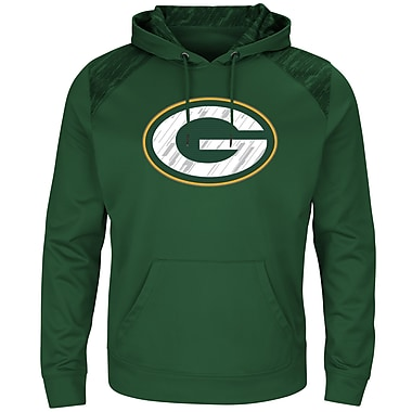 Majestic Green Bay Packers Armor Synthetic Hoodie, X-Large