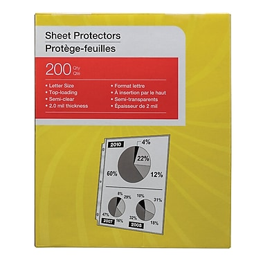 Simply™ Economy Lightweight Sheet Protectors, 200-Pack