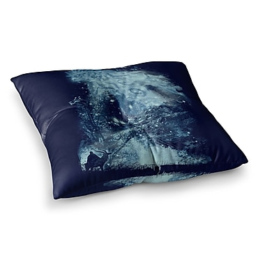 East Urban Home Forest Spirit Rising Fantasy by Frederic Levy-Hadida Floor Pillow; 23'' x 23''