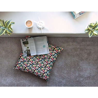 East Urban Home Flower Power by DLKG Design Floor Pillow; 26'' x 26''