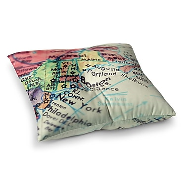 East Urban Home Boston on the Time Pastel by Debbra Obertanec Floor Pillow; 26'' x 26''