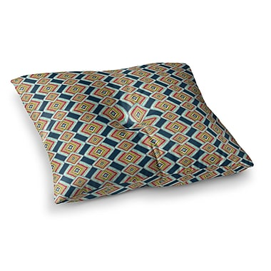 East Urban Home Rainbow IKAT Abstract by Amy Reber Floor Pillow; 23'' x 23''