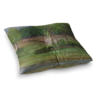 East Urban Home A Storm at the Strand Travel by Cyndi Steen Floor Pillow; 23'' x 23''