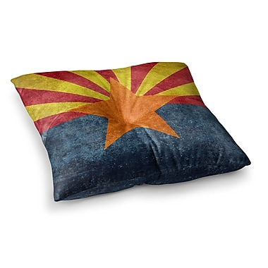 East Urban Home Arizona State Flag Retro Style by Bruce Stanfield Floor Pillow; 26'' x 26''