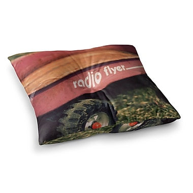 East Urban Home Radio Flyer by Angie Turner Floor Pillow; 23'' x 23''