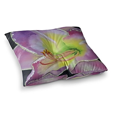East Urban Home Violet and Lemon by Cathy Rodgers Floor Pillow; 26'' x 26''