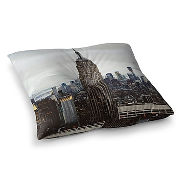 East Urban Home New York Stories Urban Travel by Chelsea Victoria Floor Pillow; 23'' x 23''