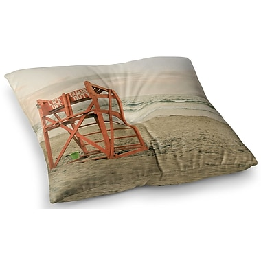 East Urban Home Dusk at the Beach Ocean by Debbra Obertanec Floor Pillow; 23'' x 23''