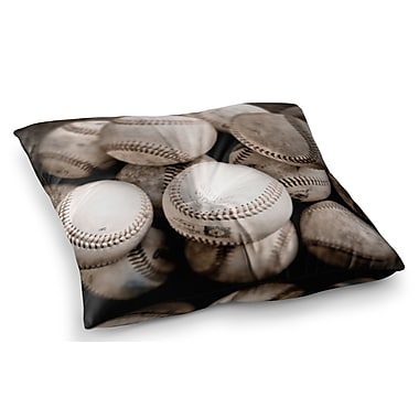 East Urban Home On the Mound Baseball by Debbra Obertanec Floor Pillow; 23'' x 23''