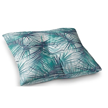 East Urban Home Palm Tree Branches Illustration by Danii Pollehn Floor Pillow; 26'' x 26''