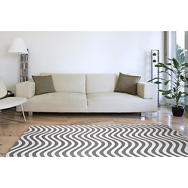 Orren Ellis Castillo Light Gray Indoor/Outdoor Area Rug; 4' x 5'