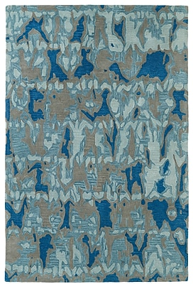 Orren Ellis Charlayne Hand Tufted Blue/Gray Area Rug; 9' x 12'