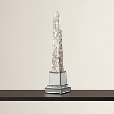 Orren Ellis Chelsey Mother of Pearl Sculpture; 17'' H x 4'' W x 4'' D