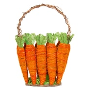 The Holiday Aisle Easter Burlap Carrot Wood and Wicker/Rattan Basket