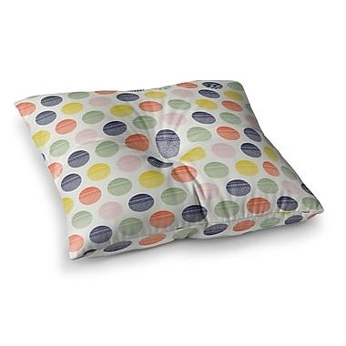 East Urban Home Rainbow Dots Vector by Gukuuki Floor Pillow; 23'' x 23''