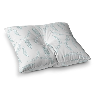 East Urban Home Floating Feathers by Jennifer Rizzo Floor Pillow; 23'' x 23''