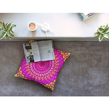 East Urban Home Radiant Pomegranate by Pattern Muse Floor Pillow; 26'' x 26''