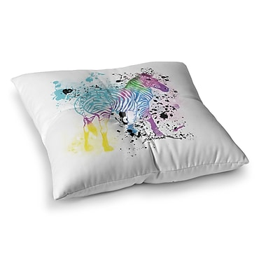 East Urban Home My Zebra by Geordanna Cordero-Fields Floor Pillow; 26'' x 26''