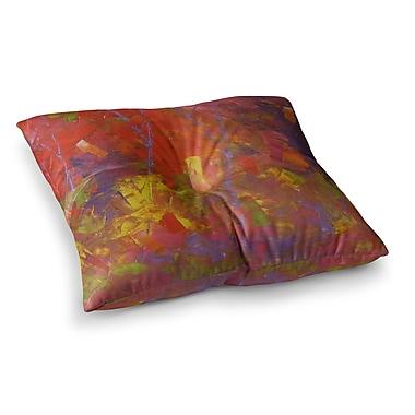 East Urban Home Forest Kaleidescope by Jeff Ferst Floor Pillow; 23'' x 23''