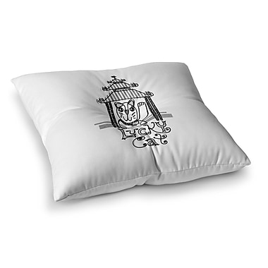 East Urban Home Lucky Cat by Jane Smith Floor Pillow; 26'' x 26''