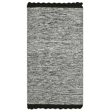 Gracie Oaks Mohnton Hand-Woven Black/Gray Area Rug; Runner 2'3'' x 7'
