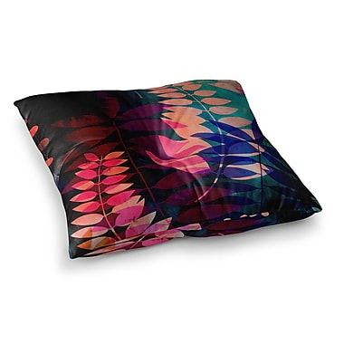 East Urban Home Dark Jungle by Jessica Wilde Floor Pillow; 26'' x 26''