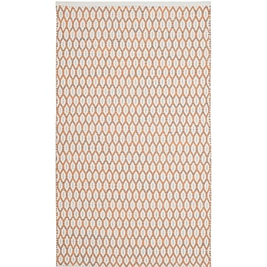 Gracie Oaks Modena Hand-Woven Orange/Ivory Area Rug; 8' x 10'