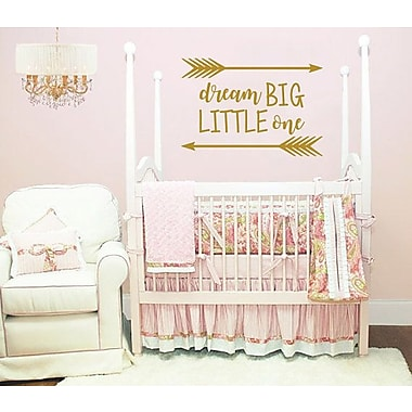 Decal House Dream Big Little One Wall Decal; Soft Pink