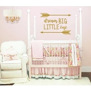 Decal House Dream Big Little One Wall Decal; Black