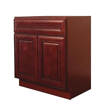 NGY Stone & Cabinet Maple 30 Single Bathroom Vanity Base