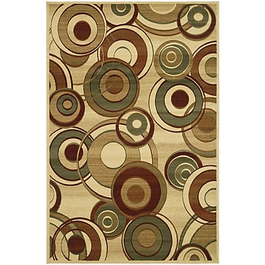 Ebern Designs Chani Ivory Area Rug; 5'3'' x 7'6''