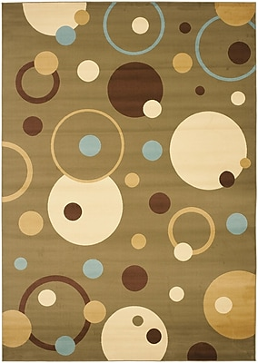 Ebern Designs Charis Green Area Rug; 8' x 11'2''