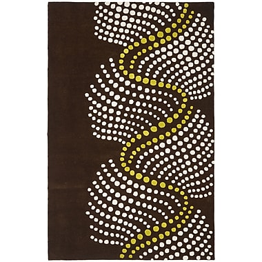 Ebern Designs Chidi Brown/Beige Area Rug; 5' x 8'