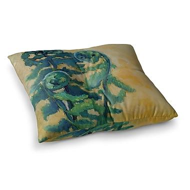 East Urban Home Fiddleheads by Carol Schiff Floor Pillow; 23'' x 23''