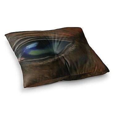 East Urban Home Arabian Eye Animals by Cyndi Steen Floor Pillow; 23'' x 23''
