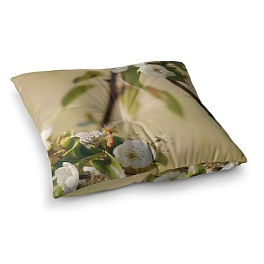 East Urban Home Pear Blossom by Catherine McDonald Floor Pillow; 23'' x 23''