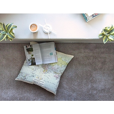 East Urban Home Travel World Map by Catherine Holcombe Floor Pillow; 26'' x 26''