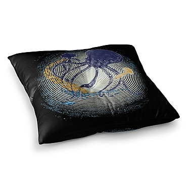 East Urban Home Tentacular Trap Octopus by Frederic Levy-Hadida Floor Pillow; 23'' x 23''
